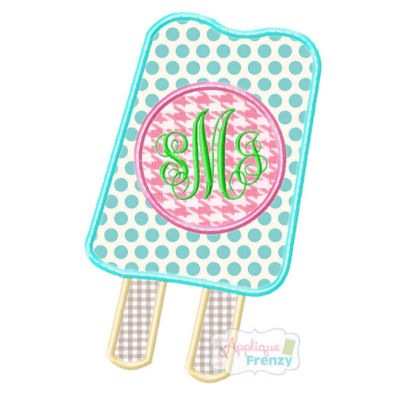 Popsicle2 Applique Design-Popsicle,  summer, beach,  heat, cruise