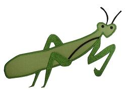 Praying Mantis Applique Design-
