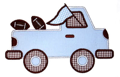 Pregame Pickup Truck Applique Design-football, school spirit, auburn, alabama, pregame truck, tailgate.