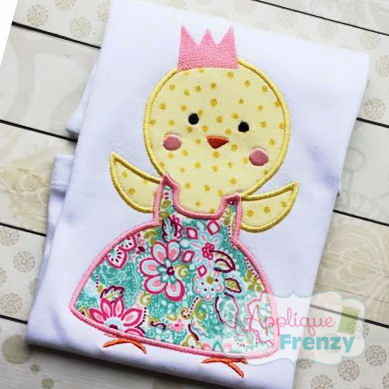 Princess Chick Applique Design-easter, bunny, princess chick, chick easter