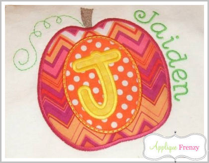 Pumpkin Alpha Applique Font-