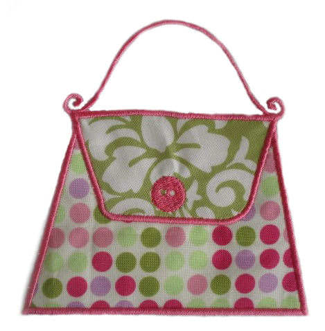 Purse Applique Design-purse, girls, shoes