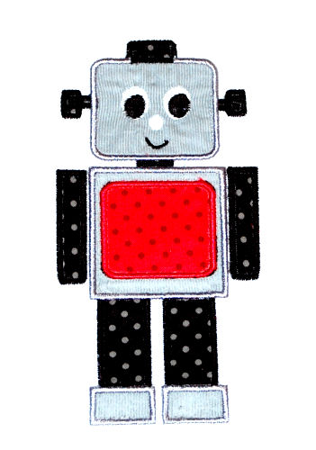 Robot 1 Applique Design-robot