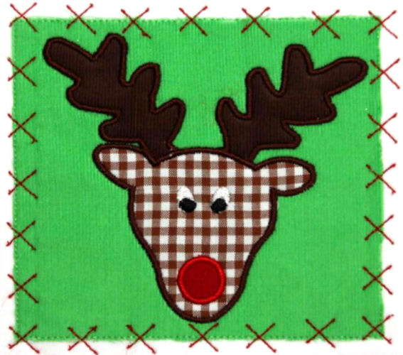 Rudolph Applique Design-rudolph, christmas, snowman, winter