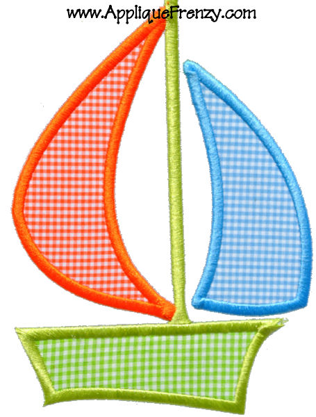 Sailboat Sp10 Applique Design-