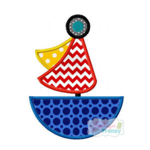 Summer Fun Sailboat 2 Applique Design-