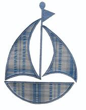 Sailboat Applique Design-