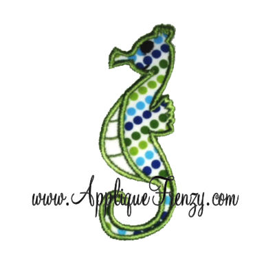 Sea Horse Applique Design-