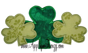 Shamrock Trio Applique Design-