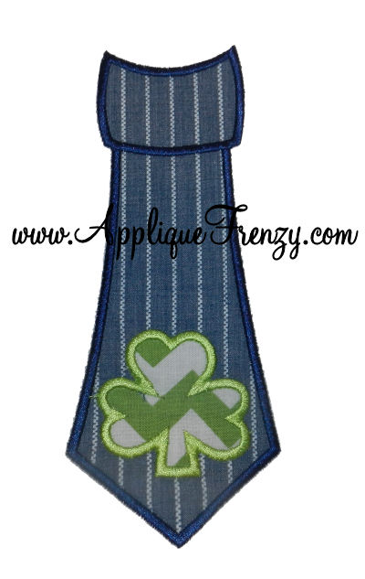 Shamrock Necktie Applique Design-