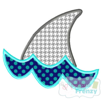 Shark Fin Applique Design-summer, shark , beach , dolphin, sand, waves, hot, sun, beach, cruiz