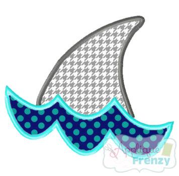 Shark Fin Applique Design-summer, shark , beach , dolphin, sand, waves, hot, sun, beach, cruiz