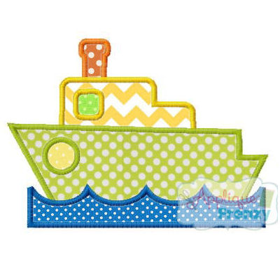 Ship in Water Applique Design-