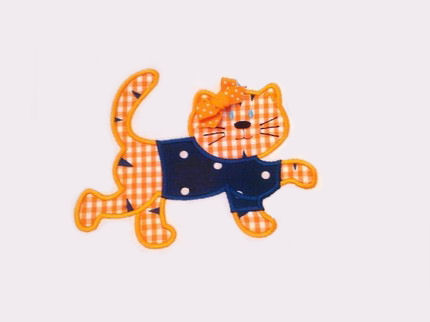 Tiger with Shirt Applique Design-