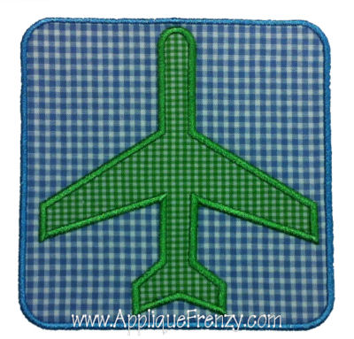 Simple Plane Square Patch Applique Design-