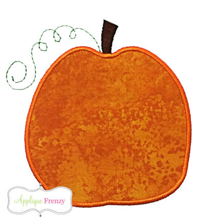 Simple Pumpkin Applique Design