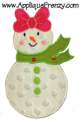 SnowGirl Applique Design-snowgirl, christmas, snow, winter, snowman