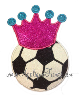 Queen of the Soccer Field Applique-soccer princess