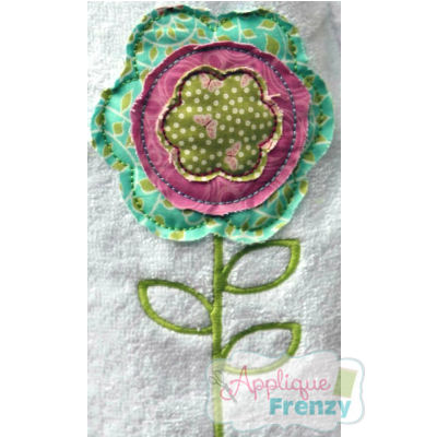 Spring Flower 3 Applique Design-