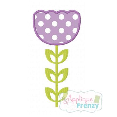 Spring Tulip Applique Design-flowers, spring, tulip, blossom