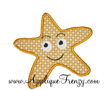 Starfish Applique Design-