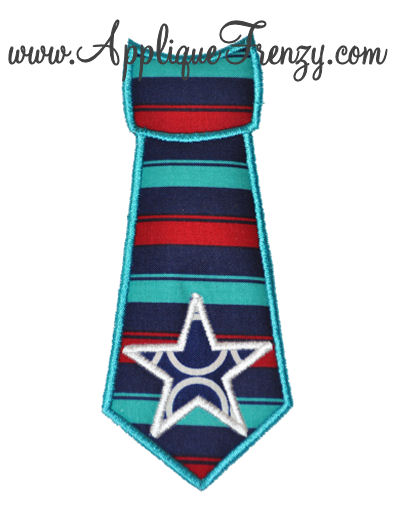 Star Necktie Applique Design-