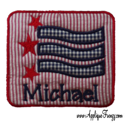 Stars and Stripes PATCH Applique Design-4th of july, july fourth, patriotic, flag, usa