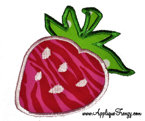 Strawberry Applique Design-