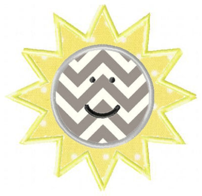 Sun Applique Design-