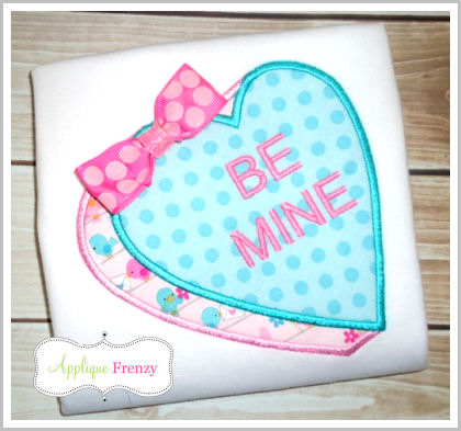 Sweet Heart Candy Applique Design-