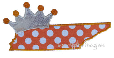 Tennessee Princess Applique Design-