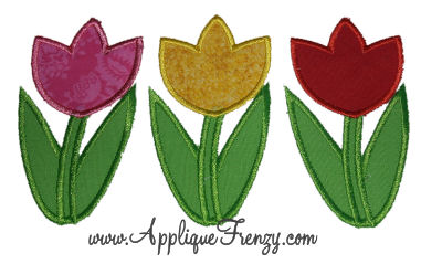 Tulip Trio Applique Design-