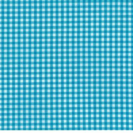 fabric gingham turquoise-