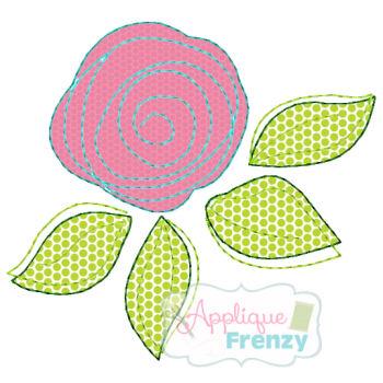 Whimsy Rose Applique Design-flower, rose, spring, easter, fresh, new, whimsical. vintage