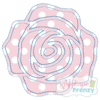 Whimsy Rose 2 Applique Design-rose, patchwork, flower, spring, new growth