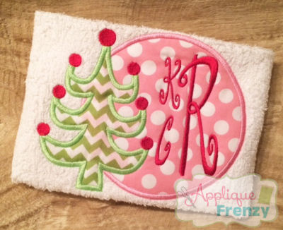 Whimsical Tree Circle Patch Design-
