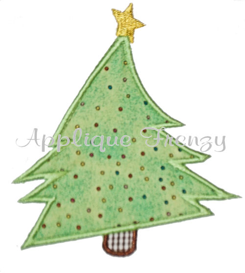 Whoville Christmas Tree Applique Design-