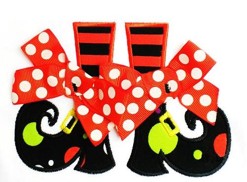 Witch Boots Applique Design-halloween, witch boots