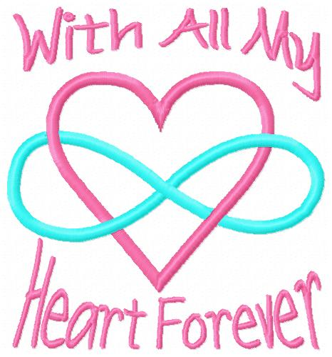 With All My Heart Embroidery Design