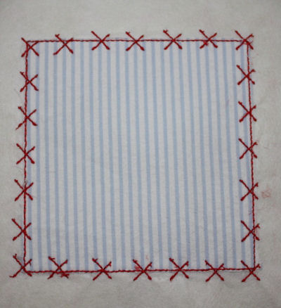 Square Patch Applique Design-square patch, x stitch